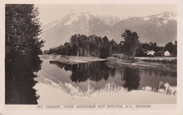 BC. Harrison Hot Springs. RPPC Postcard. 1947. Mt. Cheam. British Columbia, Canada