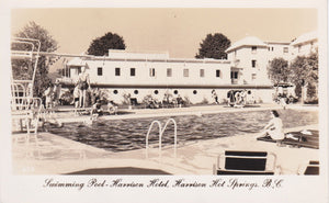 BC. Harrison Hot Springs. RPPC Postcard. Swimming Pool, Harrison Hotel. British Columbia, Canada