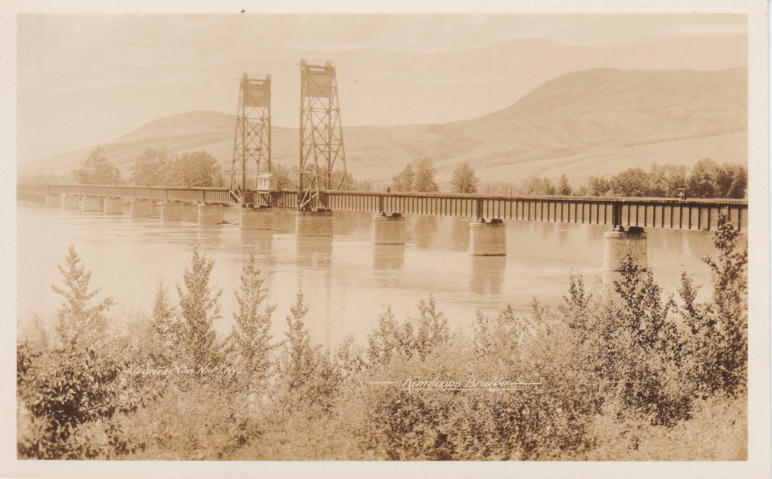 BC. Kamloops. RPPC. Postcard. C.P.R. Bridge. British Columbia, Canada