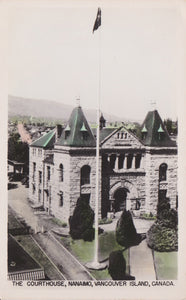 BC. Nanaimo. RPPC. Postcard. The Courthouse. Vancouver Island. British Columbia. Canada