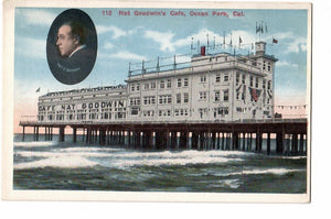 NAT GOODWING'S CAFE DINER, RESTAURANT, POSTCARD OCEAN PARK CA. 1900'S CALIFORNIA U.S.