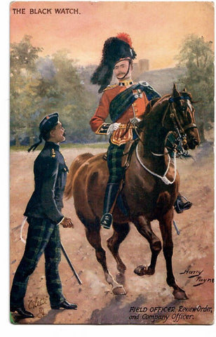 ARTIST SIGNED HARRY PAYNE MILITARY TUCK POSTCARD ENGLAND