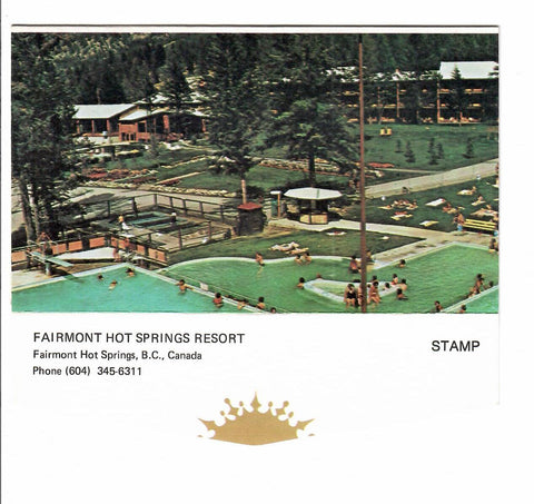 FAIRMONT HOT SPRINGS, BC. HOTEL LETTER POSTCARD IN ENVELOPE FORMAT CANADA