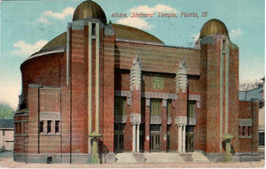 PEORIA ILLINOIS 1900'S POSTCARD #4684 SHRINER'S TEMPLE U.S.