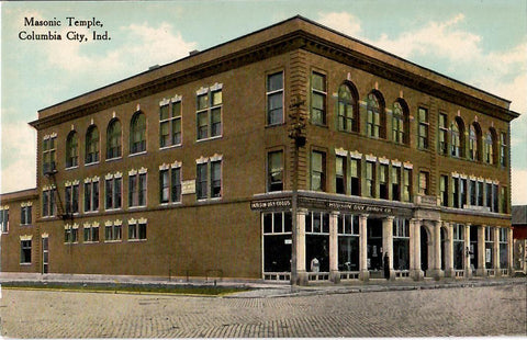 COLUMBIA CITY INDIANA 1900'S POSTCARD