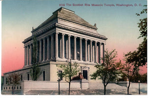 WASHINGTON D.C. POSTCARD THE SCOTTISH RITE #1019