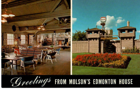 EDMONTON AB. ALBERTA (3) CHROME POSTCARDS