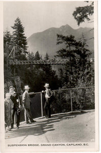 VANCOUVER BRITISH COLUMBIA BC. RPPC POSTCARD. SUSPENSION BRIDGE