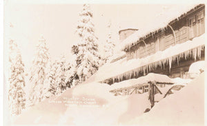 GROUSE MOUNTAIN NORTH VANCOUVER BC. RPPC POSTCARD WINTER SCENE. JOHN WARLAW PHOTO CANADA