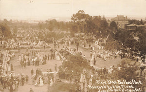 San Diego, CA. Military. 1911 Balboa Park. Banquet To The Fleet. RPPC Postcard. USA