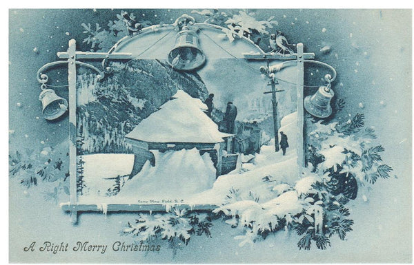 SPECIAL WINTER SCENE CHRISTMAS ISSUE POSTCARD by J.H. CHAPMAN #1325 Canada
