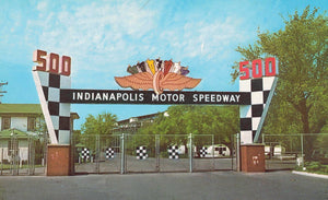 INDIANAPOLIS MOTOR SPEEDWAY MAIN GATE CHROME POSTCARD INDIANA U.S.
