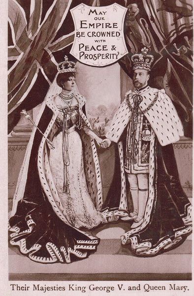 "ROYALTY RPPC POSTCARD ""THEIR MAJESTIES KING GEORGE V AND QUEEN MARY"" BRITISH"