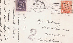 POSTAGE DUE SHORT PAGE 2 CENTS ON BYRON HARMON #773 KICKING HORSE CANYON TO SASKATCHEWAN