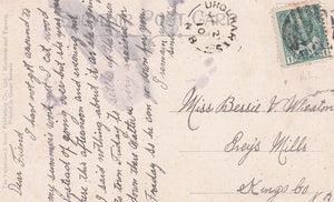 UROUHARTS NEW BRUNSWICK 1910 SPLIT RING BROKEN CIRCLE 1872-1923 ON N.B POSTCARD ST. ANDREWS CANADA
