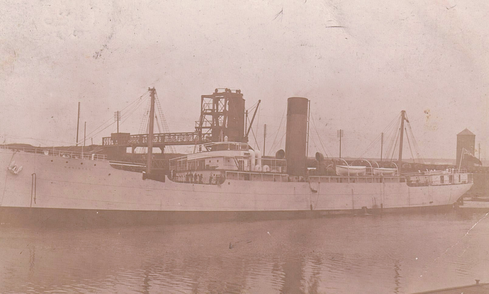 S.S. MANISTEE 1904-1917 REFRIDGERATED CARGO SHIP RPPC POSTCARD BRITISH