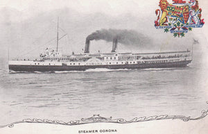 SHIP OCEAN LINER STEAMER CORONA ON PATRIOTIC PRIVATE POSTCARD CANADA
