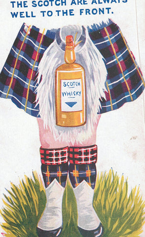 COMIC TARTAN SCOTCH AND SCOTISH WHISKEY BREWERY ENGLAND