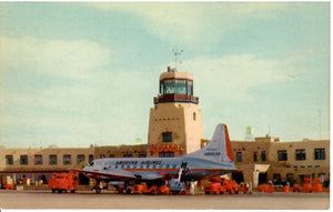AIRPORT AIRPLANE (INTERNATIONAL) EL PASO TEXAS U.S. CHROME POSTCARD