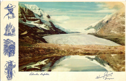 CANADA ROCKY MOUNTAINS COLUMBIA ICEFIELD HARRY ROWED JASPER ALBERTA CONTINENTAL SIZE CHROME POSTCARD