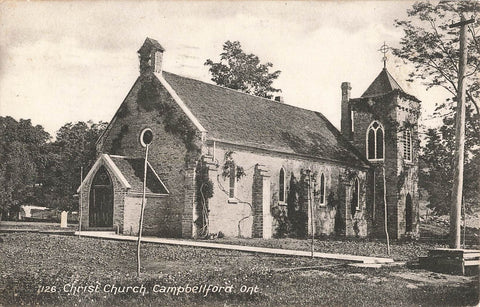 Campbellford, ON. 1910 Christ Church. Canada Postcard