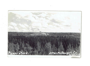 Winfield, AB. RPPC Postcard. Planer And Yard. Canada.