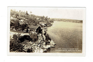 Ont. Noelville. Houle's Campsite, French River. 1939 Split Ring. (1911-Open). F/B. RPPC Postcard. Canada