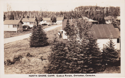 EAGLE RIVER, Ontario, North Shore Camp, RPPC, nd