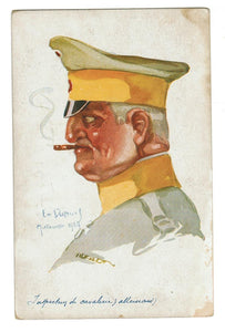 "PROPAGANDA.  ANTI-GERMANY WWI.  ARTIST SIGNED ""EMIL DUPUIS"" 1914. No. 35."