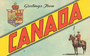 Large Letter Greetings From Canada Postcard. RCMP