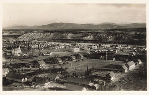 YT, Whitehorse. Bird's Eye View. RPPC Postcard. Canada