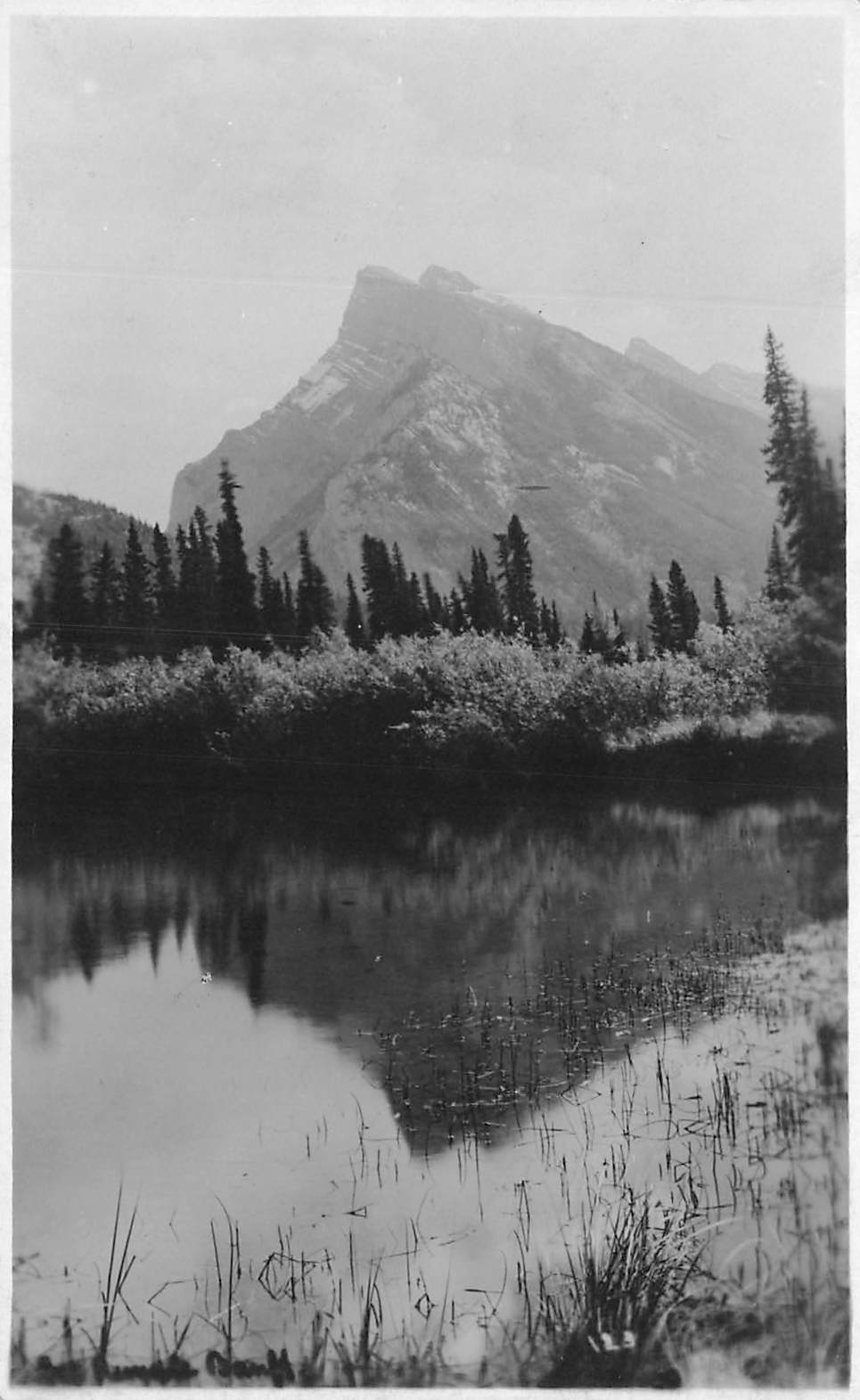 Banff, AB. RPPC Postcard. Mount Rundle. Noble Photo. Canada