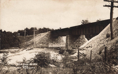 Ontario. RPPC Postcard. Railroad Bridge Over The Petawawa River. Canada
