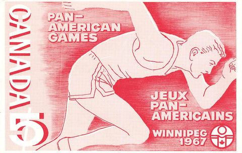 Winnipeg, MB. Promotional Postcard. 1967. Pan American Games. Canada