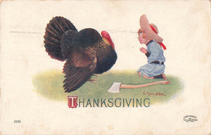 American 1907 Thanksgiving Greeting Postcard