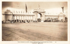 Toronto, ON. The Princes Gate. East Entrance To Exhibition Park. Canada RRPC Postcard