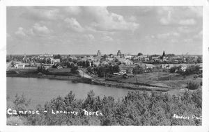Camrose, AB. 1940's. City Scene Looking North. Canada Postcard