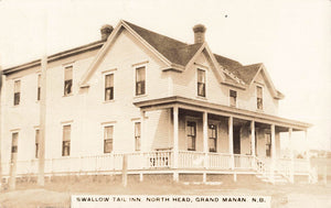Grand Manan, NB. Swallow Tail Inn, North Head. Canada RPPC Postcard