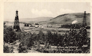 Turner Valley Oilfields, AB. No. 1 And 2. RPPC Postcard. Canada