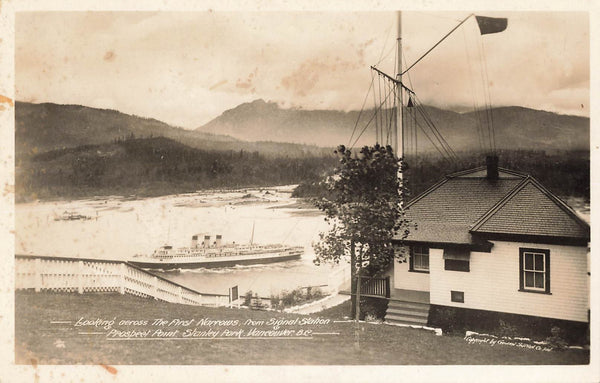 Vancouver, BC. Looking Across Narrows From Signal Point In Stanley Park. G&S. Canada RPPC Postcard