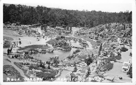 Hamilton, ON. Tourists At The Royal Botanical Rock Garden. Canada Postcard