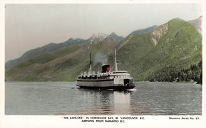 Victoria, BC. The Kahloke Ferries. Two (2) Hand Coloured RPPC Postcards. Canada