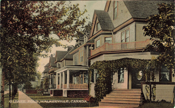 WALKERVILLE ONTARIO KILDARE ROD. RESIDENTIAL POSTCARD ON. CANADA