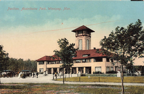 Winnipeg, MB. Assiniboine Park With Pavillion. Stedman Photo. Canada Postcard