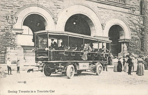 Toronto, ON. 1900's. Imperial Coach Car With Sightseeing Tourists. Canada Postcard