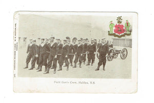 Halifax, NS. 1906. Patriotic Military Postcard. Field Gun's Crew. Canada
