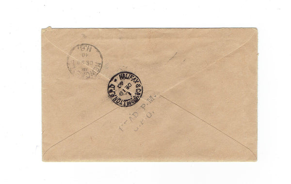 St. John's, NL. 1940 OHMS Registered Cover. Paying 15 Cent Rate. Canada