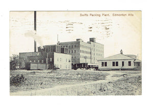 Edmonton, AB. Canada. Postcard. Swifts Packing Plant. (Enida Publ)