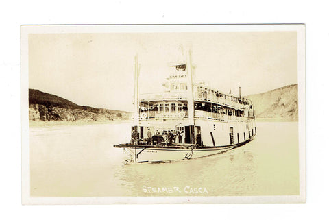 Whitehorse, YT.  Canada. Postcard. Steamer Casca.
