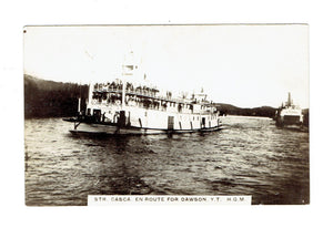 Canada RPPC Postcard. Casca And Whitehorse Steamers En Route To Dawson City, YT.